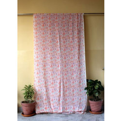 Hand Block Print Floral Print Curtain