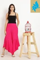 Regular Fit Casual Rayon Palazzo Pants Trouser for Women's