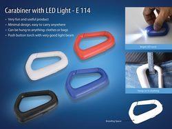 Carabiner With LED Light