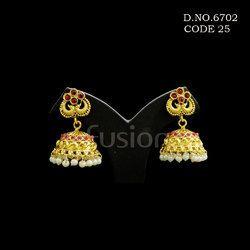 Antique Ruby Chandelier Earring