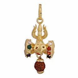 5 Mukhi Rudraksha Navratna Pendant