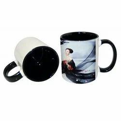 11oz Inner Rim Black  Color Mug