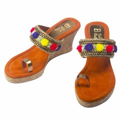15ea3e02085d Wedge Sandal - Pom Pom Wedge Kolhapuri Manufacturer from Mumbai