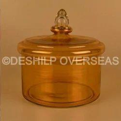 Amber Color Jar