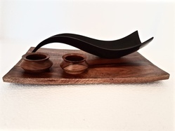 Teflon Wave Dish With Wooden Tray