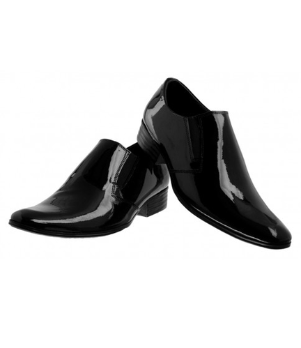 Men Leather Shoes Balujas Formal And Party Wear Black