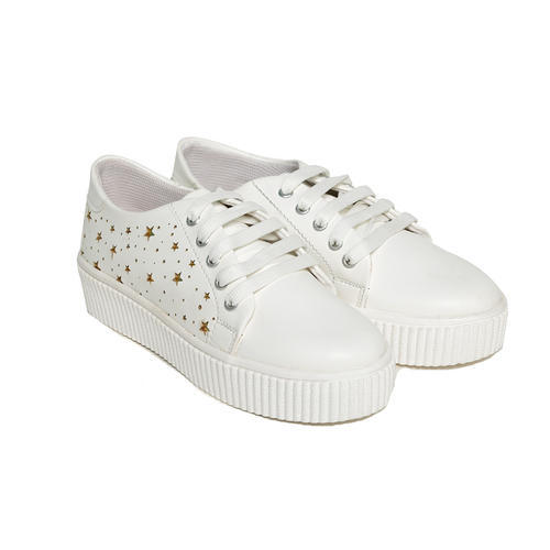 White Sneakers Shoes For Girls, Rs