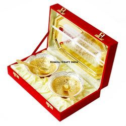 Wedding Favor Return Gift Gold Plated Bowls Set Diwali Gifts