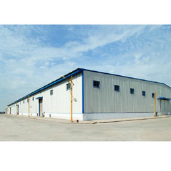 Colour Coated Warehouse Shed