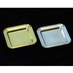 Small Square Platter Metalised