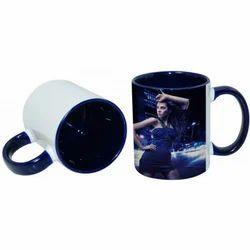 11oz Inner Rim Color Mug-Blue