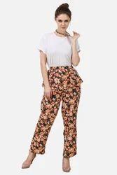 Ladies Floral Peplum Pants