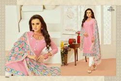 Printed Pink Monalisa Salwar Suit Fabric