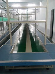 Mobile Assembly Fitting Belt Conveyor System