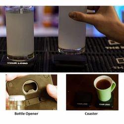 iCoaster - Coaster & Bottle Opener with Light Up Logo