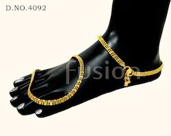Gold Toned Antique Payal