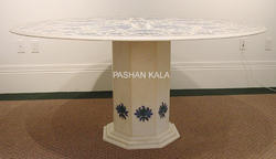 Inlaid Stone Table Tops Stone Marble Inlay Table Top Wholesale Trader From