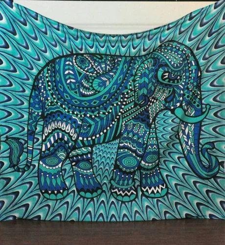 Elephant Print Tapestry - Indian Elephant Mandala Tapestry Hippie ... ca14c9a465