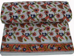 Hand Block Printed Cotton Fabric Sanganeri Doll Print