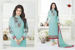 Collar Neck Full Sleeve Suhati Salwar Suit