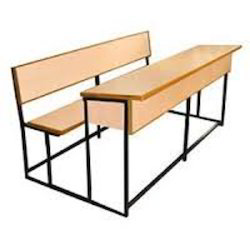 School Desk with Backrest
