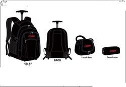 School Trolley Backpack_ Black Color