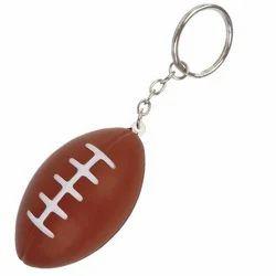Custom Rugby Ball Keychain