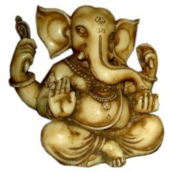 Resin Carving Kaan Ganesha Statue