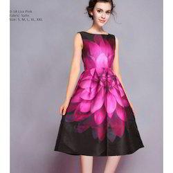 Ladies Printed Party Wear Dress