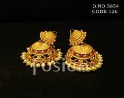 Traditional Antique Matt Jhumka Earrings