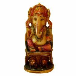 Resin Chair Ganesha Statue