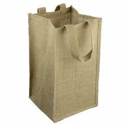 Jute Four Bottle Bag
