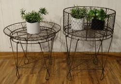 Iron Wire Indoor - Outdoor Planter With Stand