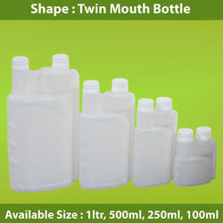 HDPE Twin Mouth Bottle