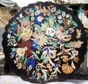 Black Marble Pietra Dura Table Top