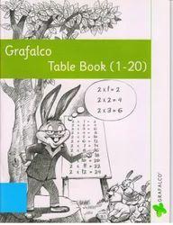Grafalco 1 to 20 Table Book