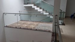 Residential Balcony Glass Railing With L Holder