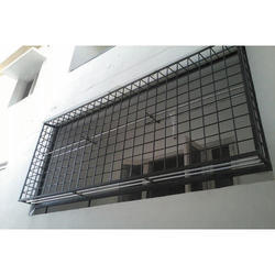 Expanded metal balcony railings security mesh burley for Balcony safety grill designs