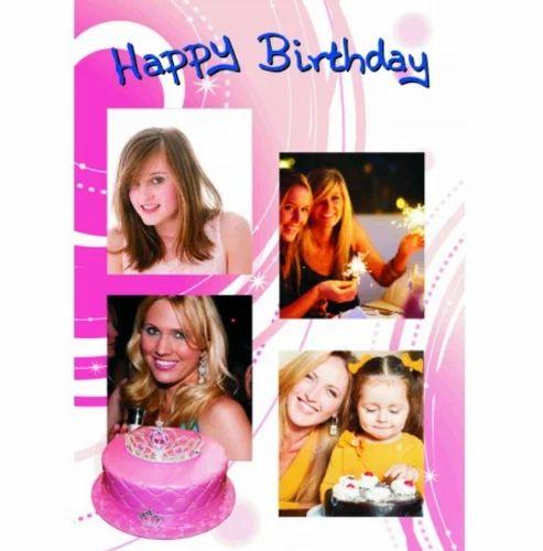 egiftmaart personalised birthday cards a4 size - Personalised Birthday Cards