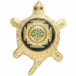 Sri Yantra Tortoise Shape Table Top Decoration Item
