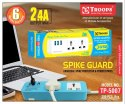 Troops Tp-5007 2.4amp Spike Guard 3 USB 2 Socket