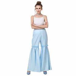 Linen Flare Ladies Pants
