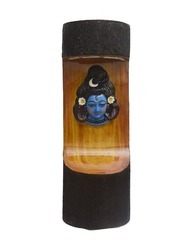 Wooden Look Shiva Face LED Light With Fountain