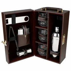 Brown - 03 - Portable Cocktail Bar Set
