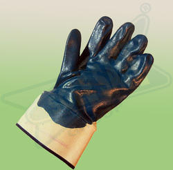 Nitrile Palm Coated Knit Lined Safety Cuff Gloves