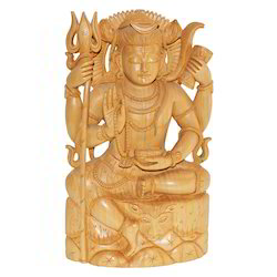 Natural Wooden Shiva Statue