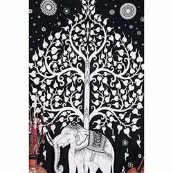 Tree of Elephant Tapestry