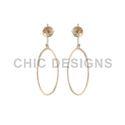 Gold Oval Earrings