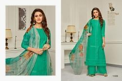 Round Neck Aabida Salwar Suit Fabric