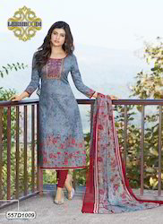 Fashion Printed Churidar Suit